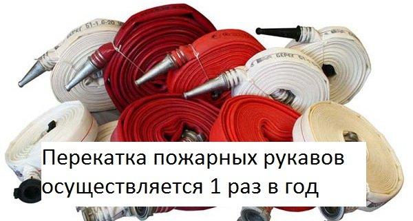 Перекатка рукавов пожарных